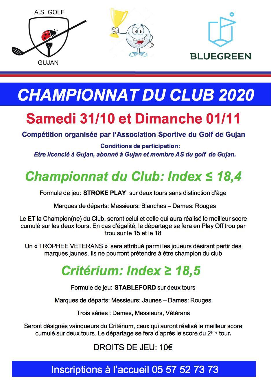 championnat du club 2020